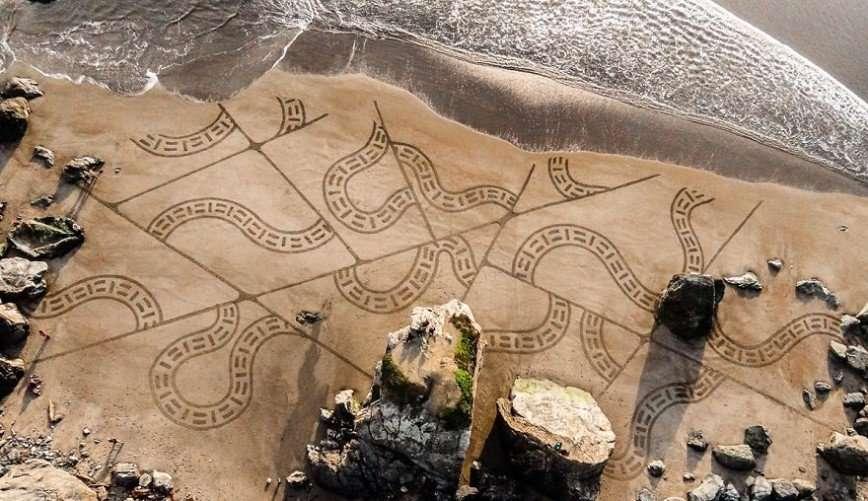 Узоры на песке от Андреса Амадора