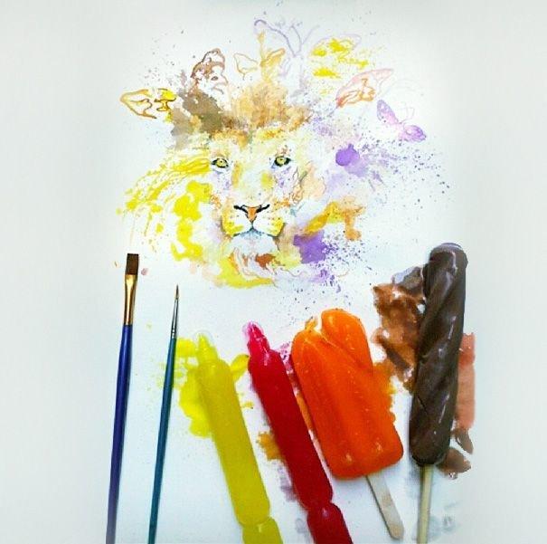 Сладкие картины или мороженое вместо красок